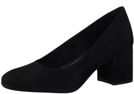 Marco Tozzi - 22403 - Black Court Shoe with Chunky Heel