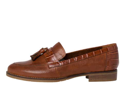 Tamaris - 24200 - Brown Leather Loafer with Tassell