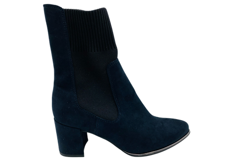 Marco Tozzi - 25352 - Navy Ankle Boot with Black 'Sock'