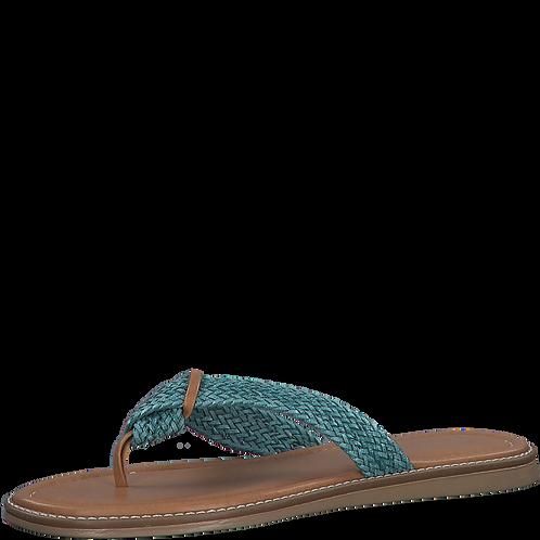 Marco Tozzi - 27120 - Turquoise Toe-Post Sandal
