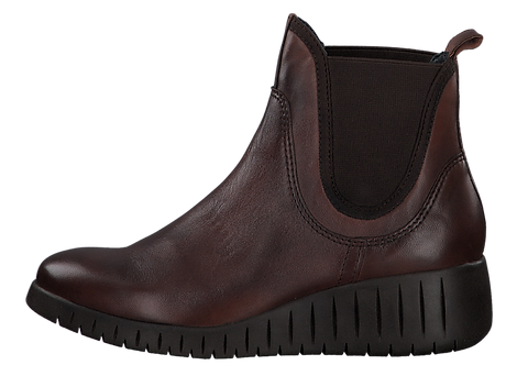 Marco Tozzi - 25442 - Brown Leather Wedge Ankle Boot