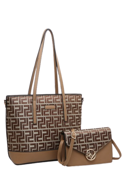 A36659-P - Ladies Shopper and Matching Clutch