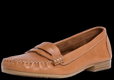 Tamaris - 24213 - Tan Leather Boat Shoe
