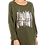 Thumbnail: 036 - Long Sleeve, Two Pocket, 'Beautiful' Leopard Print Top