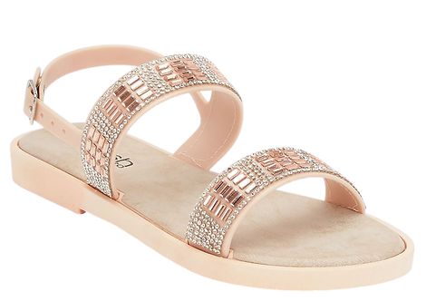 LS2886 - Diamante Jelly Shoe - Nude