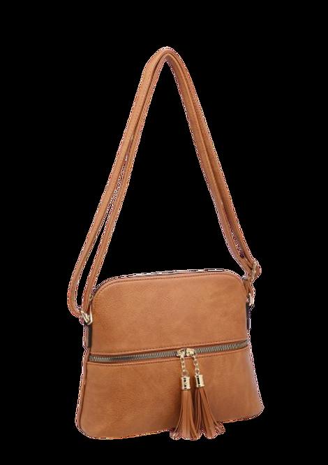 A36636 - Tassel, Crossbody Bag in Brown