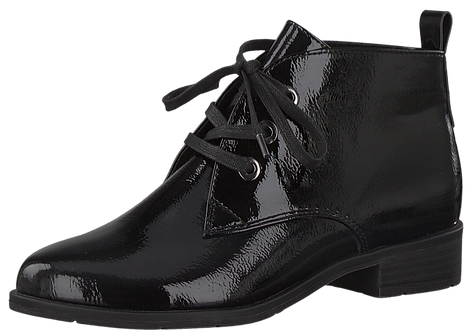 Marco Tozzi - 25120 - Black Patent Lace Up Ankle Boot