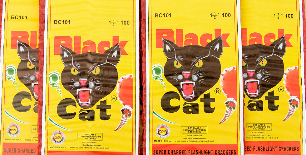 100 Black Cat Firecrackers