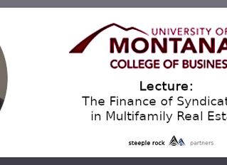 Lecture: The Finance of Syndications in Multifamily Real Estate