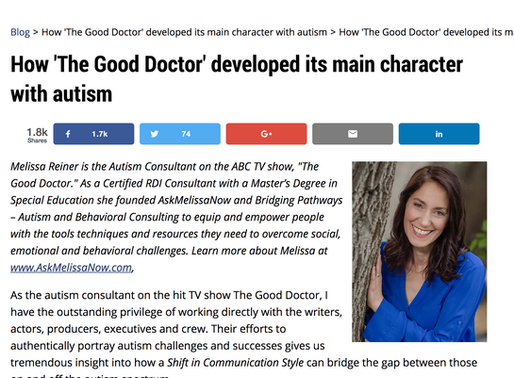 Guest Article on AutismSpeaks
