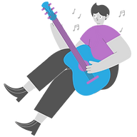 A person playing the guitar