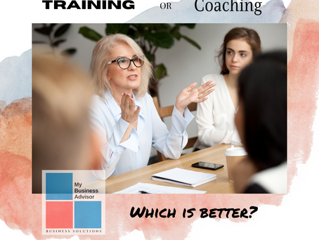 Training or Coaching. Which is Better?