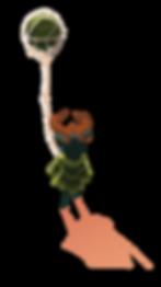 Druide avec son ballon ver