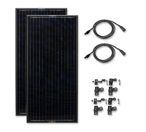 Zamp OBSIDIAN® SERIES 90 Watt Solar Panel Kit (2x45)