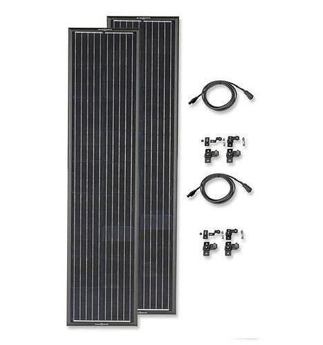 Zamp OBSIDIAN® SERIES 180 Watt Long Solar Panel Kit Airstream Curved Roof Feet