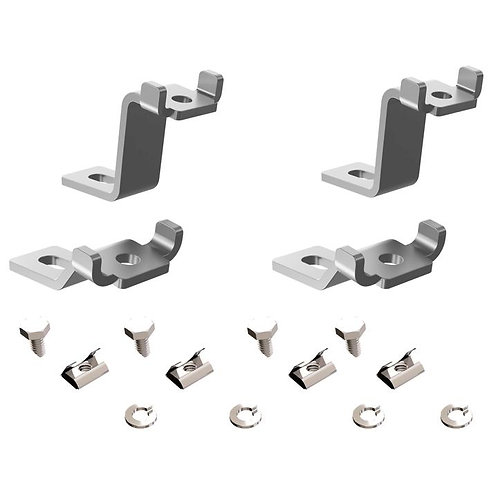 Zamp LEGACY SERIES Silver Mounting Feet for Curved Roofs (AirStream)