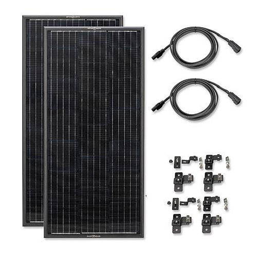 Zamp OBSIDIAN® SERIES 200 Watt Solar Panel Kit (2x100)