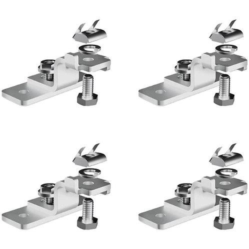 Zamp LEGACY SERIES Silver Universal Reversible Mounting Feet