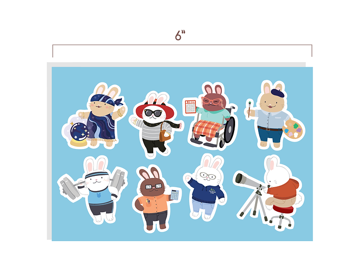 Bunny Party Stickers