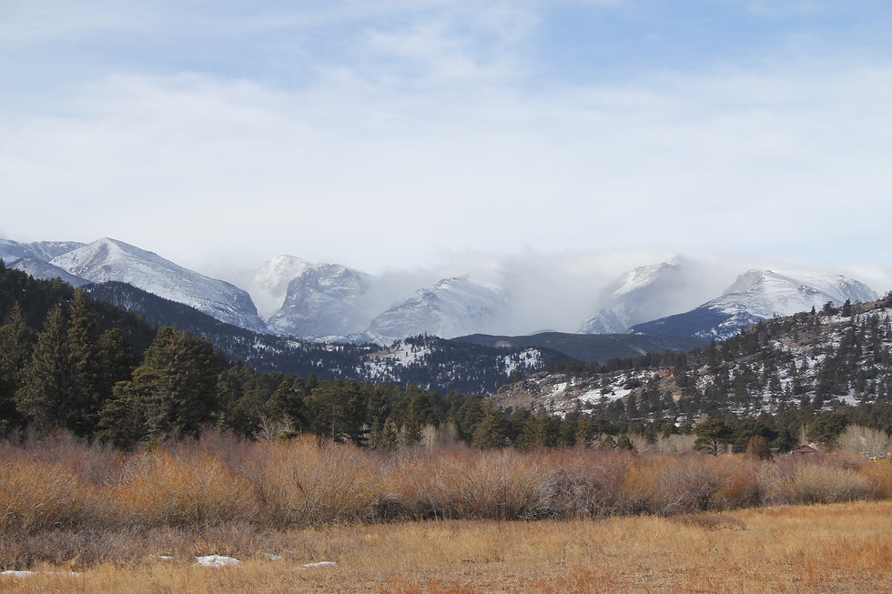 Snow Dusted Mountians of The Estes Valley