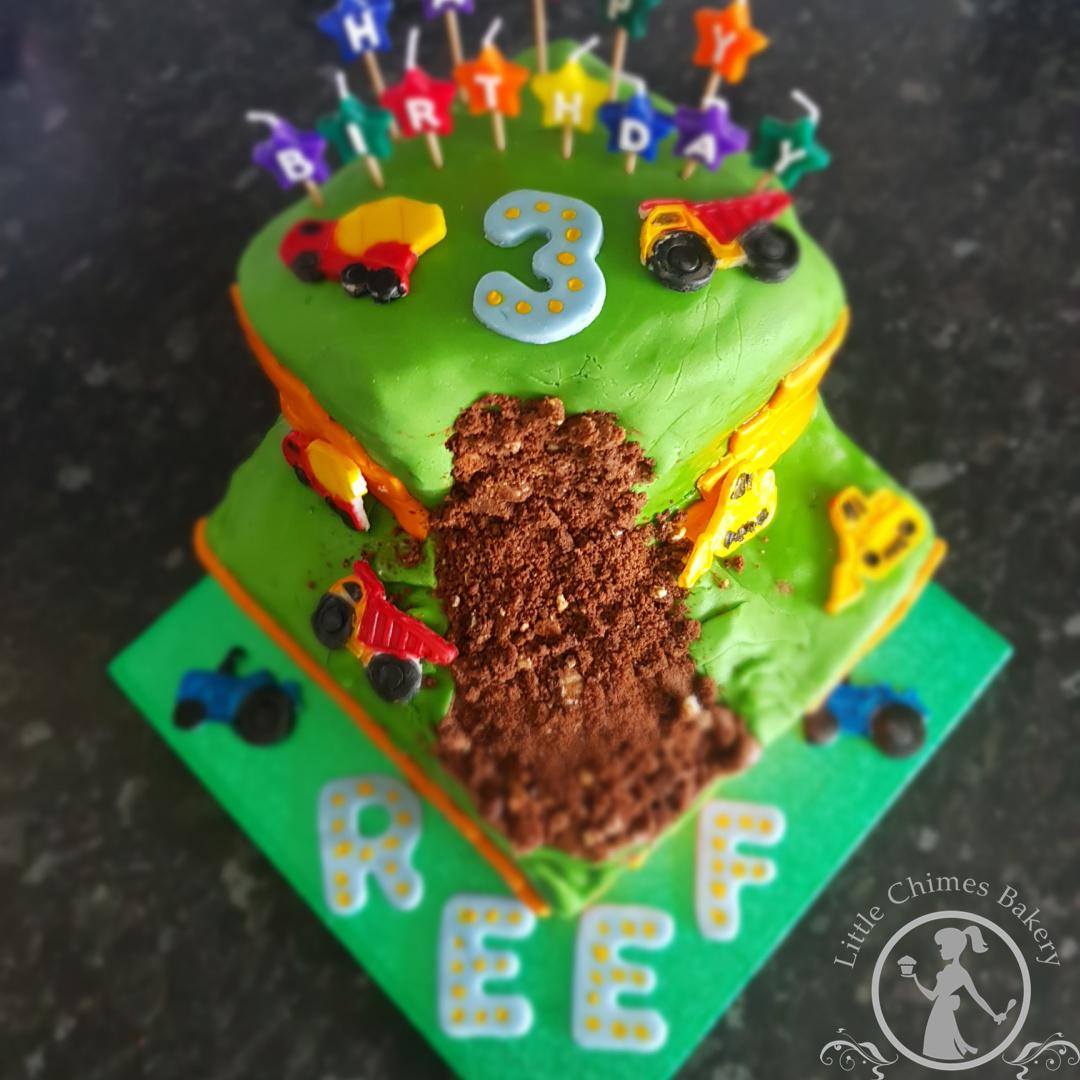Birthday - Construction layer, chocolate