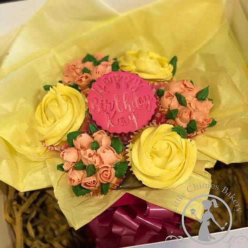 Celebrations - Bouquet of 7 bespoke cupcakes in presentation 'vase'