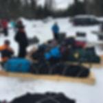 Snowshoeing in Algonquin Park