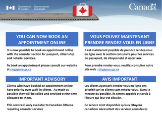 Important Advisory to Canadian Citizens requiring Consular Services