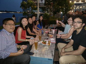 Christmas gathering at Overeasy at Fullerton Hotel (Dec 15, 2016)
