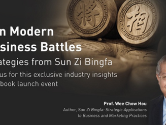 "Prof. Wee Chow Hou (University of Western): ""Win Modern Business Battles - Strategies from Sun"
