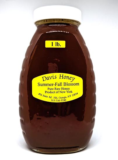 Summer-Fall Blossom Honey - 16oz