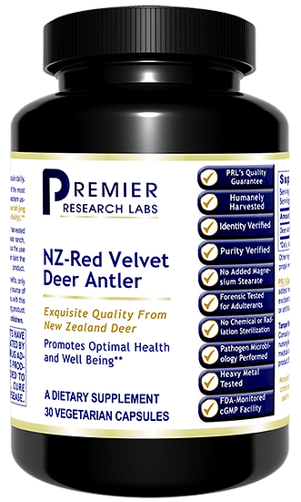 NZ-Red Velvet Deer Antler - 30 caps