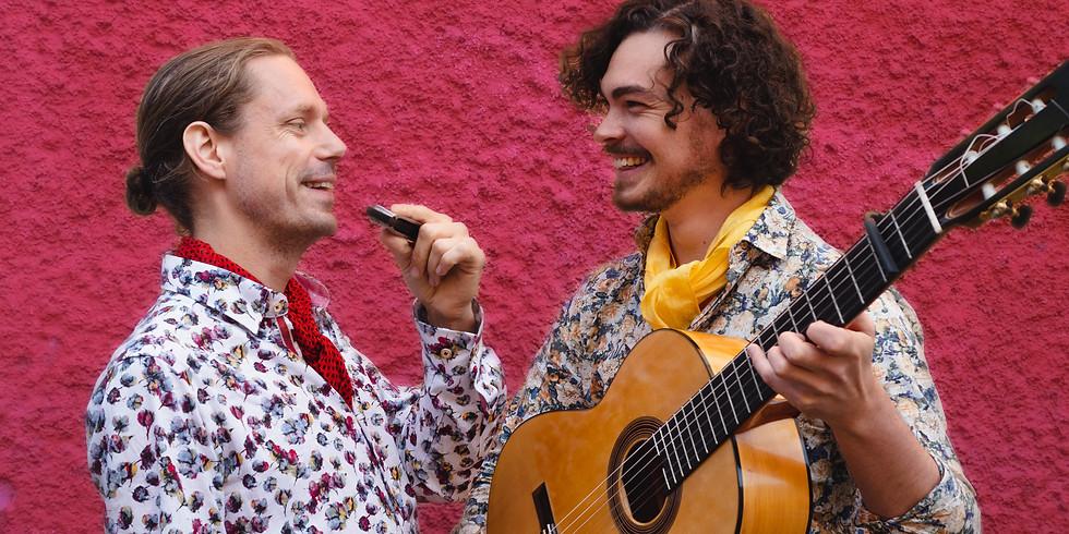 Chicos Fritos - Ökenflamenco på gitarr och munspel!