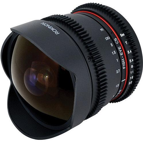 Lente Rokinon 8mm T/3.8 Fisheye Cine Lens for Canon