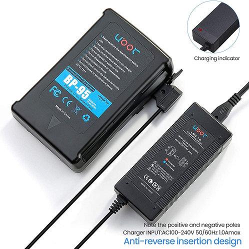 Batería de montaje en V de 95 Wh(6600 mAh) con cargador de salida D-tap y cable