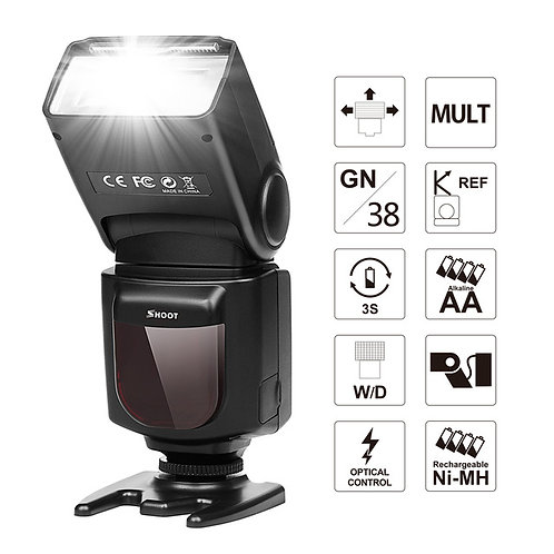 LCD Display Wireless Flash Speedlite Light