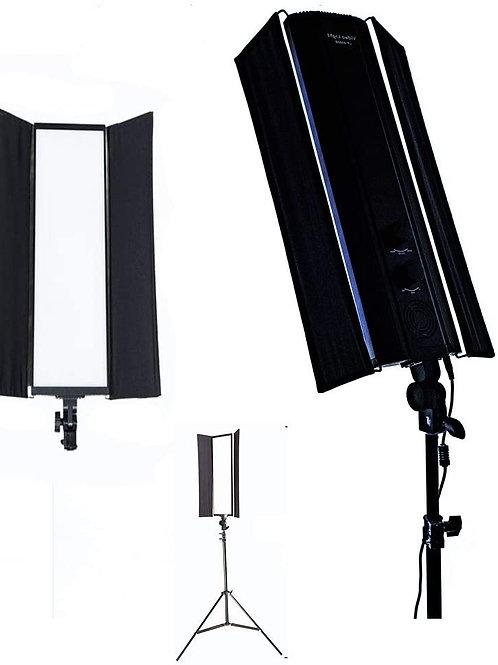 KIT 2 PANEL VERTICAL DE LUZ LED BICOLOR SOFT LIGHT 600 LEDS 60W 180 GRADOS