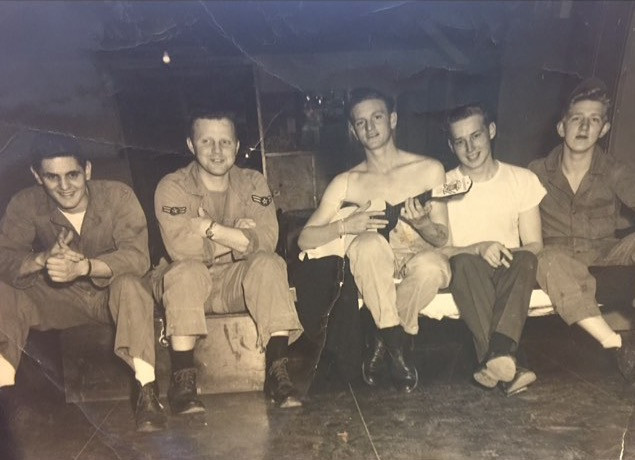 Uncle Duane playing the Ukelele while serving in Africa