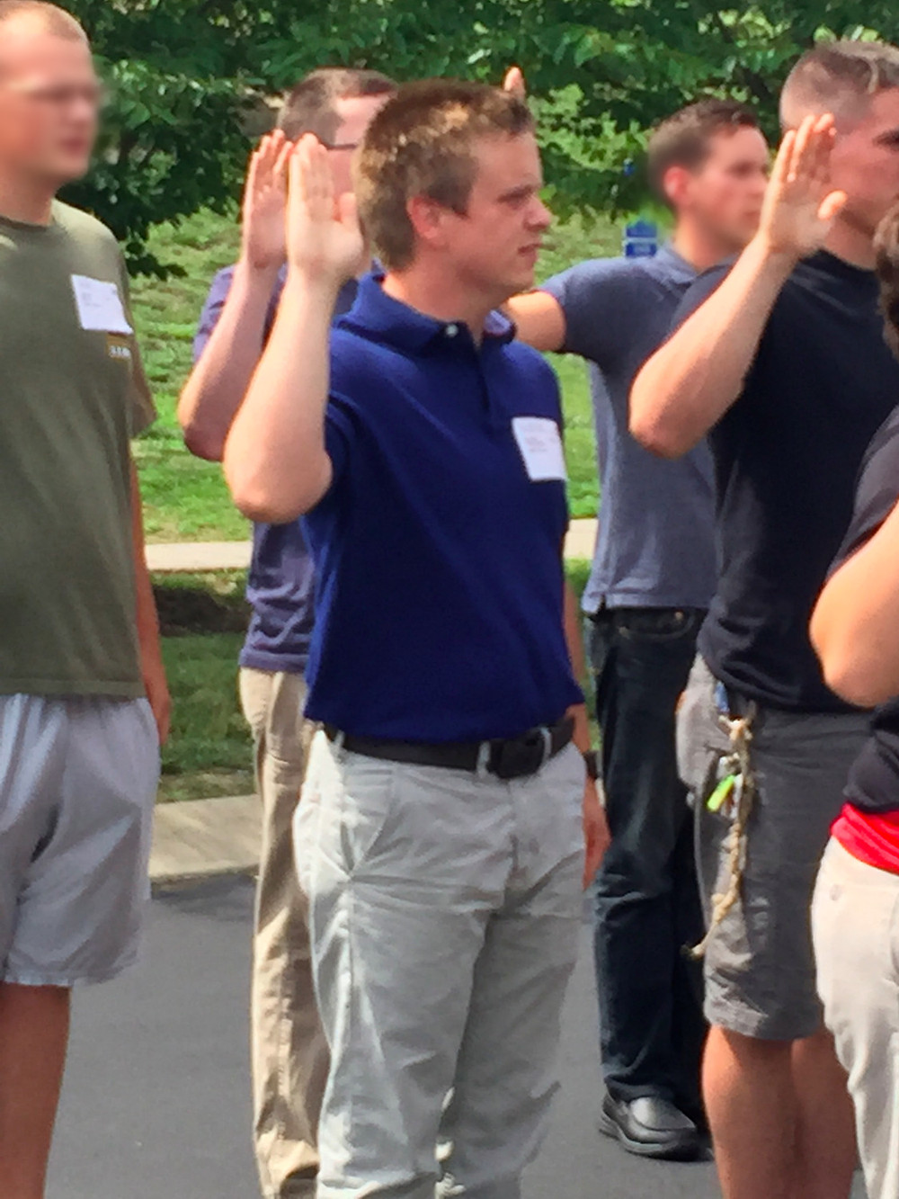 Swearing In and leaving for basic training