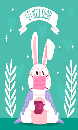 Bunny with mask
