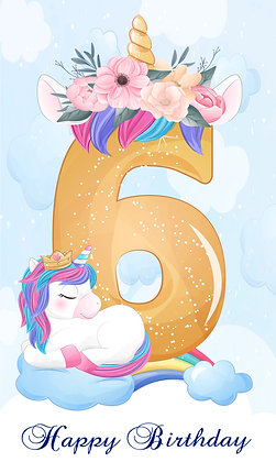 Unicorn birthday number