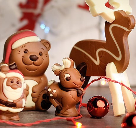 Sweet chocolate Christmas figurines