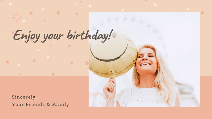 Happy Birthday your own photo