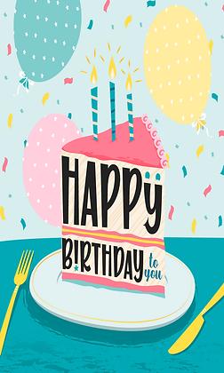 Pice of birthday cake