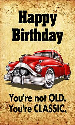 Birthday Card classic car