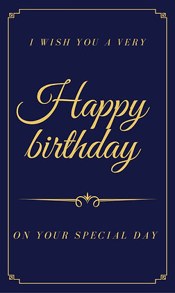Blue elegant birthday card