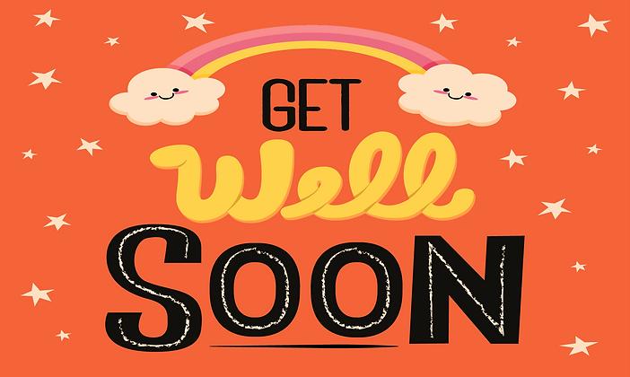 Get well soon orange