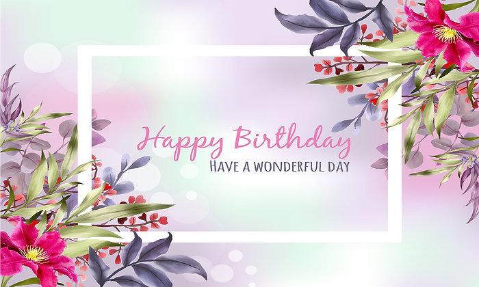 Happy Birthday colourful