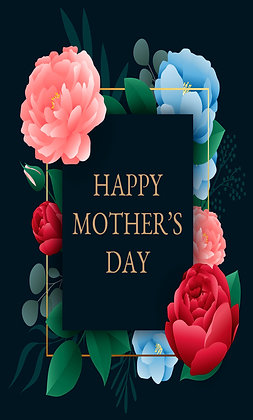 Blue navy elegant Mother's Day card