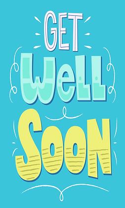 Blue get well soon